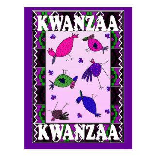 Kwanzaa - hablando con los pájaros postal