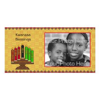 Kwanzaa Kinara Photo Card