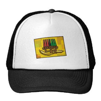 Kwanzaa Kinara with Corn Trucker Hat