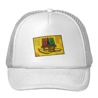 Kwanzaa Kinara with Corn Trucker Hats