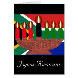 kwanzaa kinaras South Africa Card