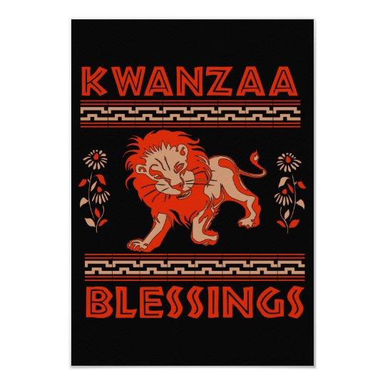 Kwanzaa Lion Card