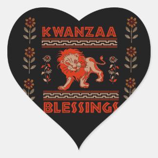 Kwanzaa Lion Heart Sticker