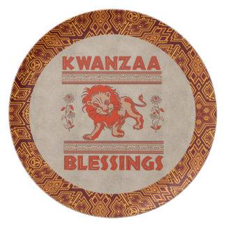 Kwanzaa Lion Dinner Plates