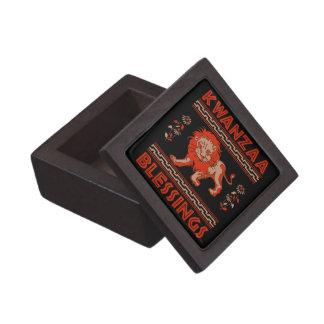 Kwanzaa Lion Premium Jewelry Boxes