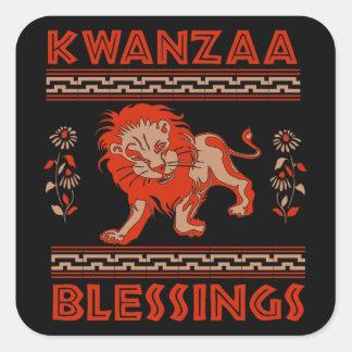 Kwanzaa Lion Square Sticker