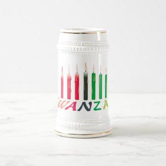 Kwanzaa mira al trasluz a Stein Jarra De Cerveza