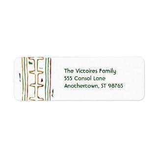 Kwanzaa Mud Cloth Address Labels