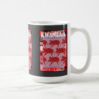 Kwanzaa mug , Boar hunt