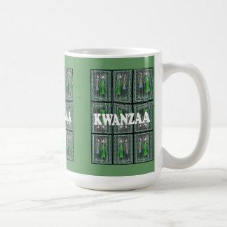 Kwanzaa mug , Tribal people pattern