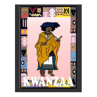 Kwanzaa - old character postcard