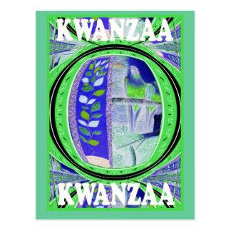 Kwanzaa - pájaros y flores postal