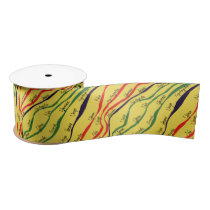 Kwanzaa Patterns Satin Ribbon