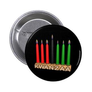 Kwanzaa Pin Redondo De 2 Pulgadas