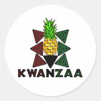 Kwanzaa Pineapple - First Fruit Classic Round Sticker
