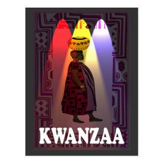 Kwanzaa - portador de agua postal