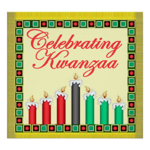 Kwanzaa posters photo prints zazzle kwanzaa poster print m4hsunfo