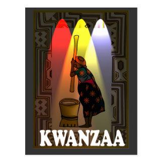 Kwanzaa - pounding mealies postcard