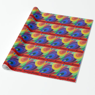 Kwanzaa Rainbow Colors Painting Wrapping Paper