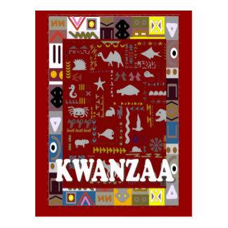 Kwanzaa - Red animals Postcard