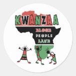 kwanzaa round stickers