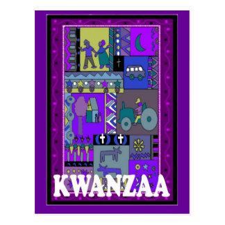 Kwanzaa -= Scenes from village life Postcard
