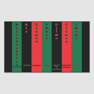 Kwanzaa Seven Principles Sticker