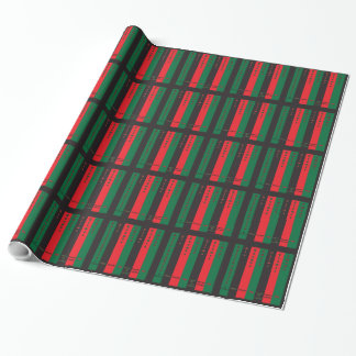Kwanzaa Seven Principles Vertical Wrapping Paper
