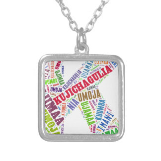 KWANZAA SILVER PLATED NECKLACE