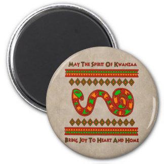 Kwanzaa Snake 2 Inch Round Magnet