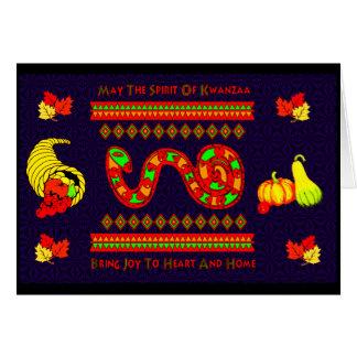 Kwanzaa Snake Card