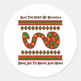 Kwanzaa Snake Classic Round Sticker