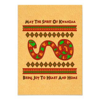 Kwanzaa Snake Personalized Invites