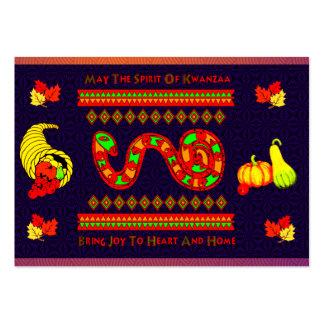 Kwanzaa Snake Large Business Card