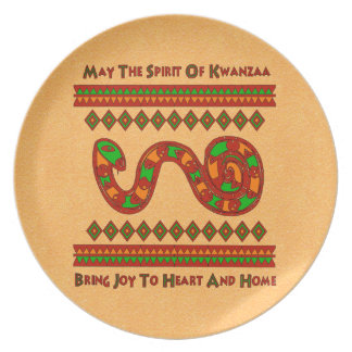 Kwanzaa Snake Plates