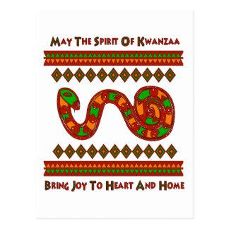Kwanzaa Snake Postcard