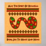Kwanzaa Snake Poster