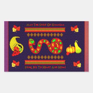 Kwanzaa Snake Rectangular Sticker
