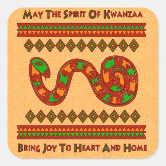 Kwanzaa Snake Square Sticker