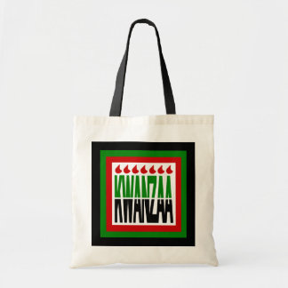 Kwanzaa Split In Half with 7 Flames & 3 Frames Tote Bag