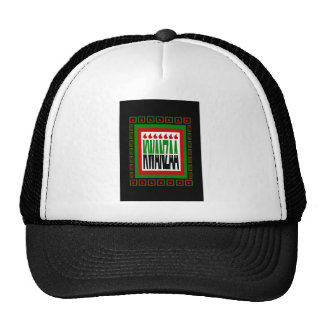 Kwanzaa Split With 7 Flames & Decorated Frame Hat