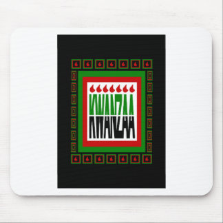 Kwanzaa Split With 7 Flames & Decorated Frame Mouse Pad