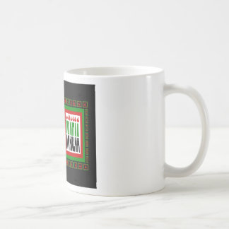 Kwanzaa Split With 7 Flames & Decorated Frame Coffee Mugs