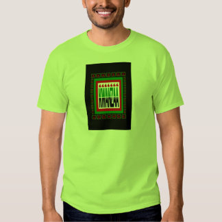 Kwanzaa Split With 7 Flames & Decorated Frame Tee Shirt