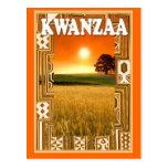 Kwanzaa - sunset and cornfields post card