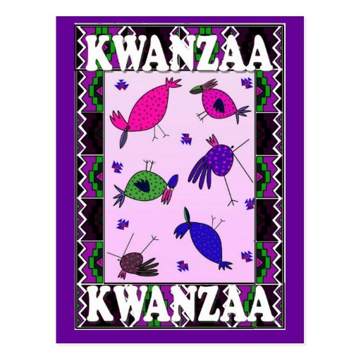 Kwanzaa - Talking to the birds Postcard