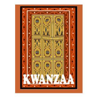 Kwanzaa - tallas de piedra postal