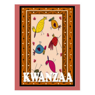 Kwanzaa - tell it to the birds postcard