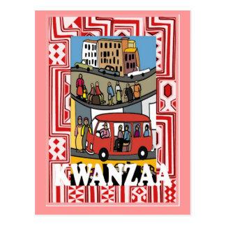 Kwanzaa - town life postcard