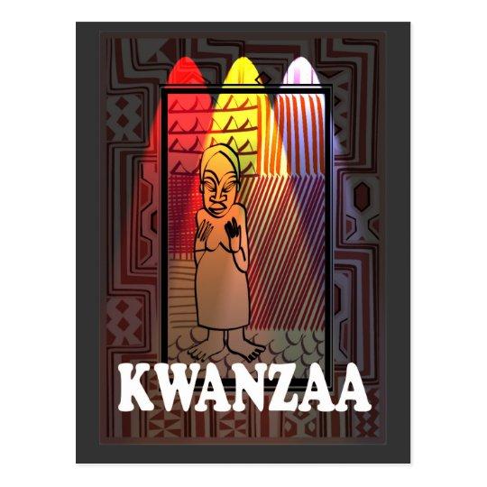 Kwanzaa - tribal character postcard